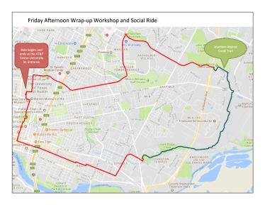 2018 TTAT Friday afternoon wrap-up and social ride map